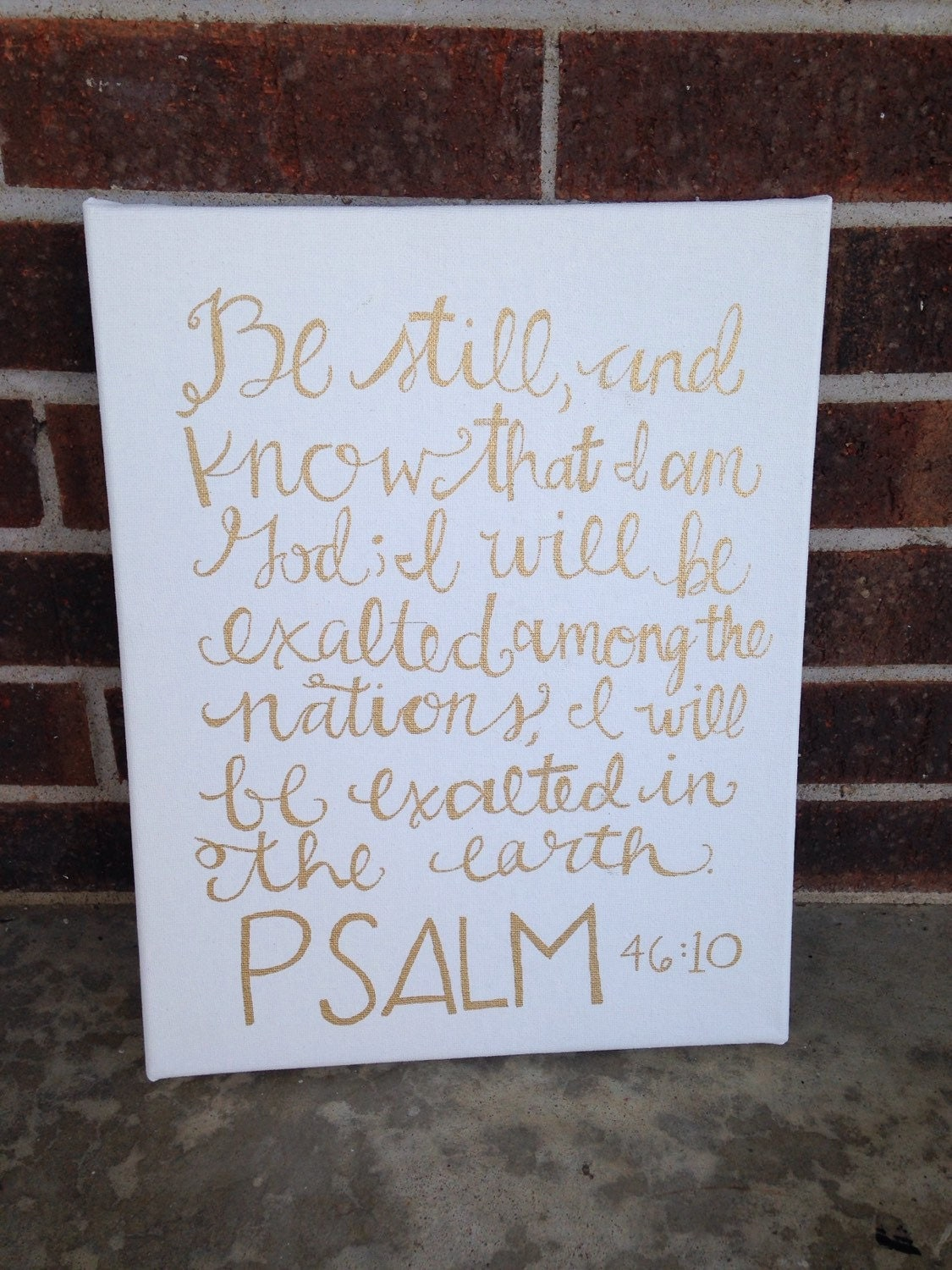 Inspirational Quote Bible Verse Calligraphy Home Decor Hand
