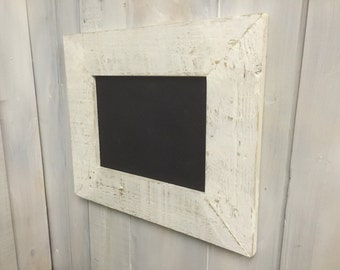 Reclaimed Pallet Wood White Wash Distressed Shabby Chic Rustic Chalkboard Blackboard