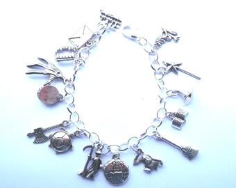 Handmade Discworld Themed Charm Bracelet