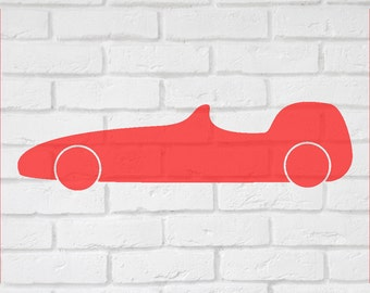 Racing Car Wall decal sticker -  Children's wall decal, Boys bedroom  small to large  up to 19 inches.