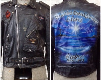 Airbrushed Jacket Etsy