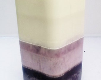 Multi Tone Pillar Candle / Fade Up Pillar Candle / Custom Pillar Candle / Scented Soy Wax Pillar Candle / Rounded Edge Square Pillar Candle