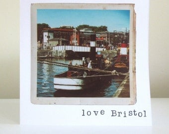 Love Bristol, Vintage style photography greetings card