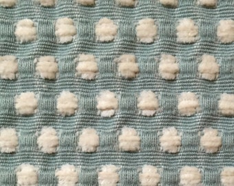 Small Dot - Textured - Sea Foam Dot - St Simmon - Upholstery Fabric by the Yard