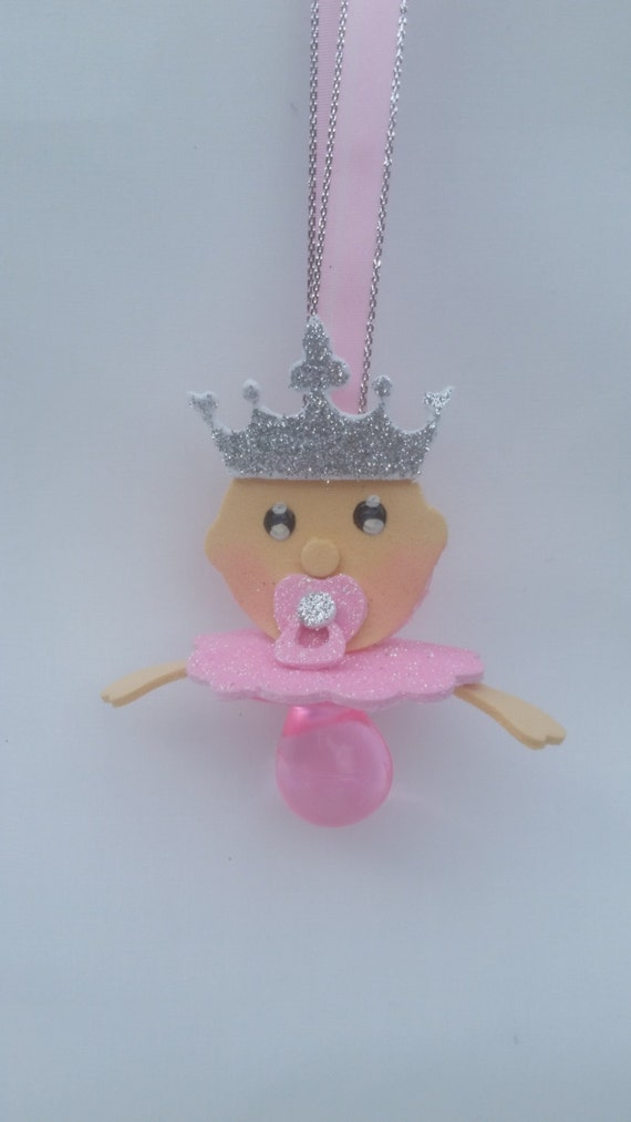 Baby Shower Pacifier Necklace Royal Princess Theme Baby Shower