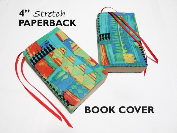 Book Cover School Supplies : Stretch paperback book cover triangles fabric by