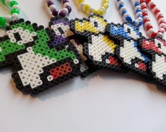 Baby Yoshi Kandi Necklace//Baby Yoshi//Mario Brothers//