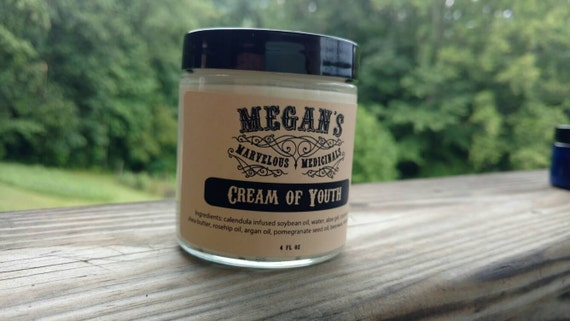 Cream of Youth, Calendula, Argan Oil, Rosehip Oil, Pomegranate Seed Oil, Anti-aging, Vitamin E Oil, Face Cream, 4oz