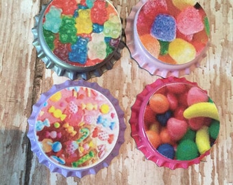 Candy girl inspired sealed bottle cap set