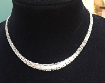 Beautiful 925 sterling collar necklace