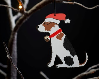 Jack Russell Christmas tree decoration