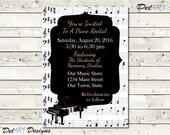 Piano Recital, Orchestra Concert Invite, Music Recital Invitaitons, Choir, Digital File, Piano Party Invite, JPG, Printable or ecard