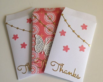 Thank You Gift Card Envelopes (Set of 3)