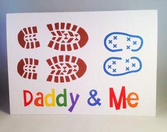 Father's Day Card - Footprints Daddy & Me