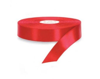 unmissable opportunity !!!!! 3 red satin ribbon rolls DIY