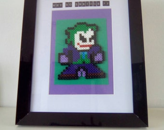 Hama bead Joker picture frame with quote