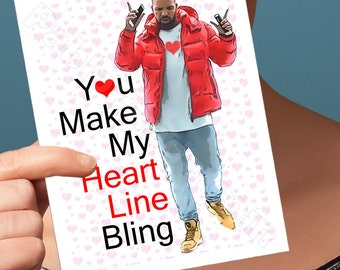 I Love You Card | Hotline Bling | Funny Anniversary Funny Love Card Drake Birthday Card Drizzy Husband Card Girlfriend Card Funny Boyfriend