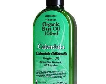 100ml Organic Base Oil - 100% Pure - CALENDULA Base Oil