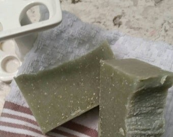 Handmade Patchouli with Oatmeal Cold Process  Soap