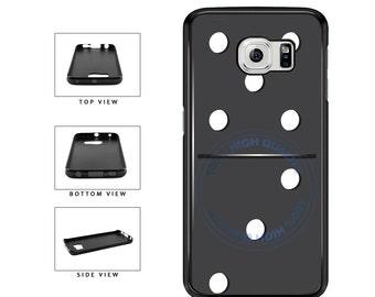 Black Domino Game Piece - Samsung Galaxy s3 s4 s5 s6 s7 s6 Edge Plus Note 2 3 4 5