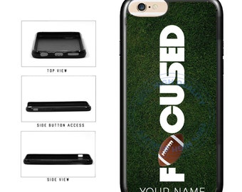 Football Personalized Custom Name Focused - iPhone 4 4s 5 5s 5c 6 6s 6 Plus 7 6s Plus iPod Touch