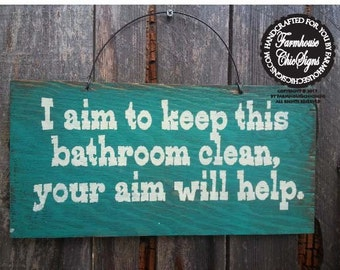 bathroom sign, bathroom decor, bathroom quote, funny bathroom decoration, bathroom wall decor