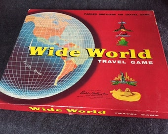 Rare vintage Wide World board game 1957
