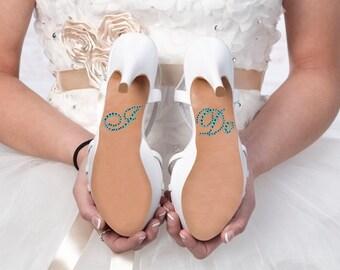 "Something Blue ""I Do"" Rhinestone Shoe Sticker | I Do Shoe Sticker | Wedding Shoe Stickers | DIY Shoe Sticker"