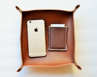 Catch all tray, wedding gift, grooms gift, groomsmen gift, valet trays, leather catch all tray, leather tray, personalized leather tray