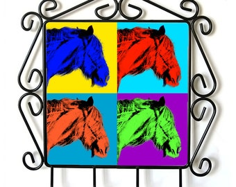 Shire- clothes hanger with an image of a horse. Collection. Andy Warhol Style
