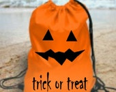 Halloween pumpkin face jack o lantern kids gym school pe bag trick or treat