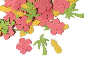 Tropical confetti, luau party supplies, Ready in 3-5 Days, 100 pieces, beach wedding, pool party, summer picnic, vacation,