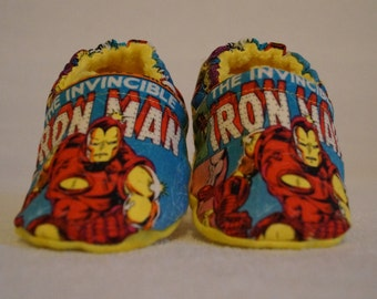 Avengers Iron Man Baby Booties