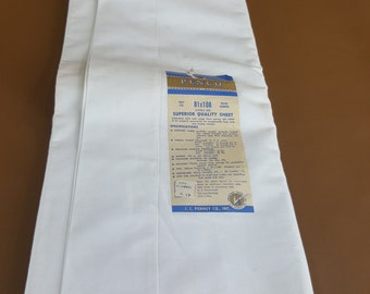 Vintage Penco unused flat sheet 81 x 108
