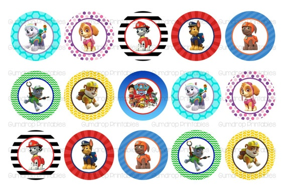 40%OFF Paw Patrol Bottle Cap Images INSTANT Download Buy 3