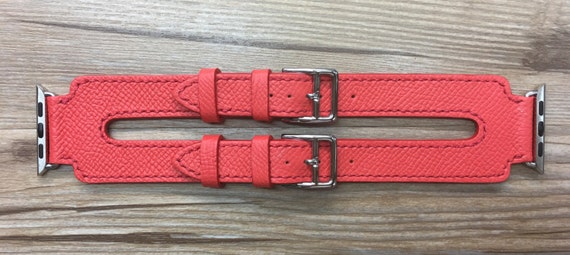 Apple Watch Band | Apple Watch Strap | Black Friday Sale, FREE SHIPPING | Rose Jaipur Epsom Double Buckle Cuff For Apple Watch 38mm & 42mm