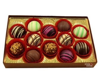 Truffles Handmade Chocolates Collection 12 Pieces by Sparko Sweets