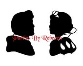 Disney Princess SVG Silhouette