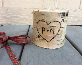 Personalized Birchwood Candle