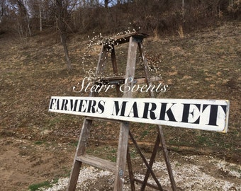Farmers market sign. Primitive sign for your country kitchen decor. Signs for the home. Kitchen signs Rustic signs. Distressed kitchen signs