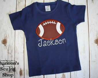 Navy Blue Football Shirt with Name