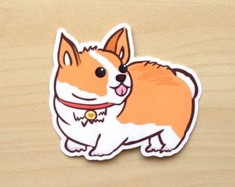 Corgi Vinyl Sticker-Corgi Sticker-Corgi-Welsh Corgi-Vinyl Sticker-Dog Sticker-Cute Sticker-Sticker-Gift for dog lover-Gift for Corgi lover