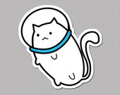 Fat Cat Sticker - Space Cat