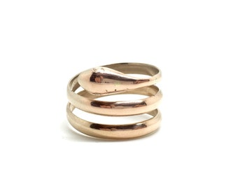 Simple Gold Snake Ring