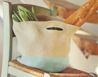 Crochet Rustic Shopping Bag PDF Pattern