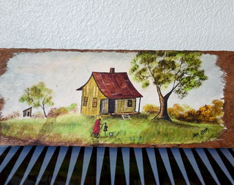 Wonderful Original Folk Art on Wood