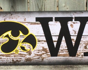 Iowa hawkeyes etsy for Iowa hawkeye decor