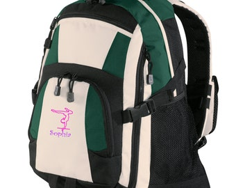 Personalized Backpack Embroidered Back Pack Custom Backpack - Sports - Gymnastics - BG77