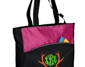 Personalized Tote Bag Embroidered Tote Bag Custom Tote Bag - Sports - Hunting - B1510