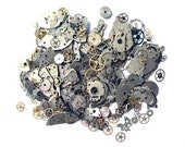 Assorted Watch Parts, Cogs and Gears, Wheels, Hands, Steampunk 50 grams